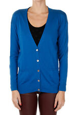 BE YOU New woman blue Cashmere Sweater knit Cardigan NWT