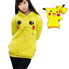 Adult Hoodie Pokemon Sweater Cosplay Pikachu Cloak Jacket Coat Hoody Fleeces