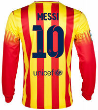 NIKE FC BARCELONA MESSI LONG SLEEVE AWAY JERSEY 2013/14 FOOTBALL LA LIGA SPAIN.