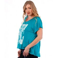 New Women's Plus Size Jade Graphic Print Hi-Lo Top In Size 4X  Made in USA