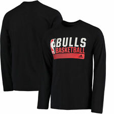 adidas Chicago Bulls Black Icon Status Ultimate climalite Long Sleeve T-Shirt