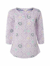 NEW WHITE STUFF BATIK PRINT FLORES TUNIC TOP KAFTAN UK SIZE 8 10