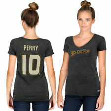 CCM Corey Perry Anaheim Ducks Women's Gray Name & Number V-Neck T-Shirt - NHL