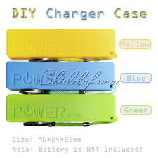Colors 2600mAh USB External Power Bank Case Pack Box 18650 Battery Charger DIY