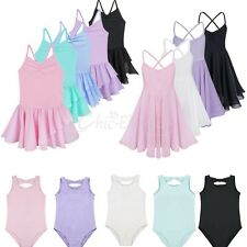 Girl Kids Ballet Dance Princess Dress Leotard Tutu Skirt Party Dancewear Costume