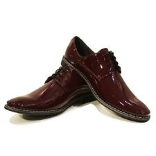 Modello Lucento - Handmade Colorful Italian Leather Oxford Dress Shoes Brown