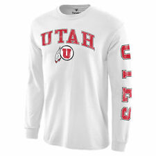 Utah Utes White Distressed Arch Over Logo Long Sleeve Hit T-Shirt