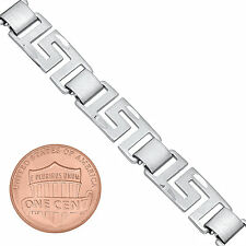 8mm Women White Gold Silver Plated/Layered/Plated Fancy Link Greek Key Chain