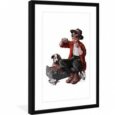 """Marmont Hill """"Sick Puppy"""" by Norman Rockwell Framed Art Print. Free Shipping"""