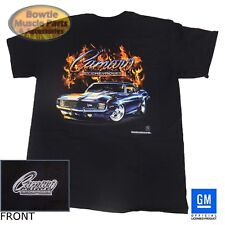1969 69 1ST GEN CAMARO RS SS Z/28 FLAME T-SHIRT BLACK GM LICENSED 67 68