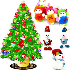 7PCS Christmas Snowman Ornaments Party Xmas Tree Hanging Pendant Decoration Gift