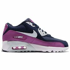 Nike Air Max 90 Mesh Navy Youths Trainers