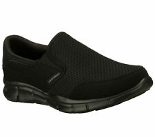 51361 EW Wide Width Black Skechers Shoe Men New Memory Foam Comfort Slipon Dress