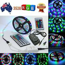 5M 3528 SMD RGB LED 300LED Strip Light IR Controller Power Supply For Party Xmas