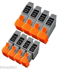 8 x Black Inkjet Cartridges Compatible With Printer Canon BCI-21, BCI21