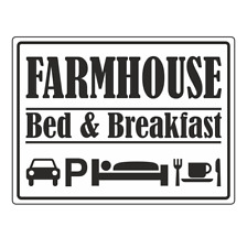 Farmhouse Bed & Breakfast Farm Signs (14149)
