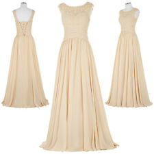 Stock New Lace/Chiffon Formal Prom Party Ball Bridesmaid Evening Dress Size 2-16