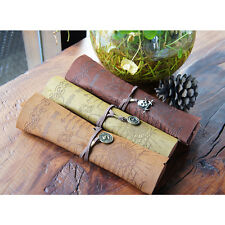 Pirate Treasure Map Pattern Pencil Bag Gift Roll Up Bags Makeup Pouch Coin Purse