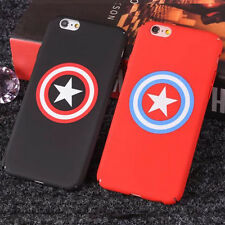 Couple Cool Captain America Superman PC Hard Cover Case For iPhone 5 6 6s 7 Plus