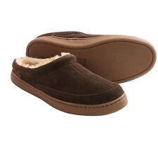 BNIB Mens Hush Puppies Suede Slippers Brown Sizes UK 6  7  9  10 RRP £63.99