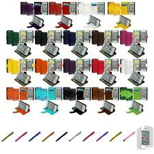 For iPhone 4 4S Wallet Leather Case Cover Pouch Card Slots+Screen Protector