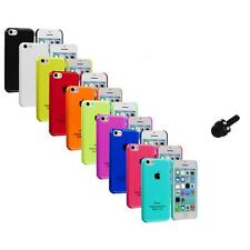 For iPhone 5C Crystal Hard Snap-On Ultra Thin Back Case Cover+Mini Stylus