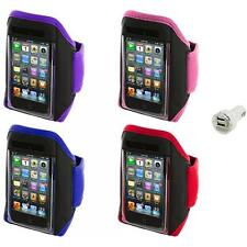 Gym Sports Armband Case Cover+Dual Charger for iPod Touch 4th 3rd 2nd Gen 4G 3G