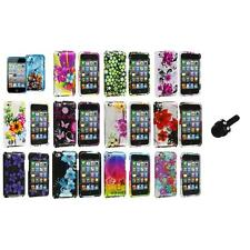Flower Design Hard Case Cover Accessory+Mini Stylus for iPod Touch 4th Gen 4G 4