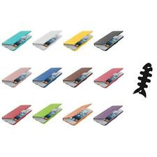 For iPod Touch 5th Gen 5G 5 Wallet Leather Hard Case Cover Pouch+Cable Wrap
