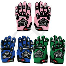 COOL YOUTH KIDS ATV MOTOCROSS MOTORCYCLE OFF-ROAD MX DIRT BIKE GLOVES PINK BLUE