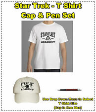 Star Trek T Shirt, Cap & Pen Set - Great Gift Idea - Birthdays Christmas - New