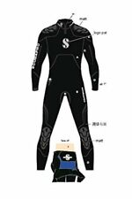 Scubapro Everflex Steamer Wetsuit 7/5 mm Men's - Black