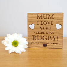 I Love You More Than Rugby - Personalised Mothers Day Gift for Mum Mummy