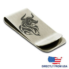 Stainless Steel Gargantuan Minotaur Engraved Money Clip Credit Card Holder