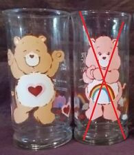 Vintage Care Bear Pizza Hut 1983 15 oz Glass TENDERHEART BEAR