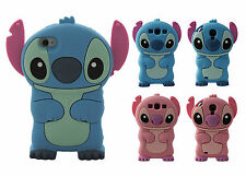 New 3D Cartoon Stitch Disney Soft Silicone Rubber Case Cover For iPhone Samsung