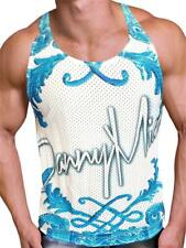 Danny Miami Crown Blue Tank Multi Mens for men Tank top muscle shirt sleeveless