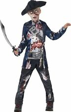Smiffys Boys Childrens Deluxe Jolly Rotten Halloween Fancy Dress Costume Pirate