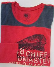 NWT Lucky Brand  T-Shirt Women's Graphic Tee Indian Motorcycles Red Sz S M XL