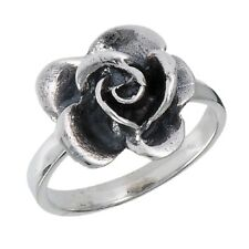 Stunning .925 Sterling Silver Rose Flower Ring Sizes 5-9 - New