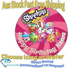20cm Round Shopkins Edible Image Icing or Wafer Cake Topper Kids Birthday
