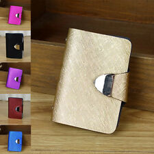 Synthetic Leather Business Case Wallet ID Credit Card Holder Purse 26pcs Card