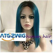 100% Brazilian full/front lace Glueless wig Human Hair Straight Ombre  Women Wig
