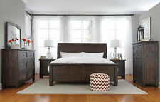 Ashley Bedroom Trudell 4pc Set Brown Sleigh HB Queen King Bed Dresser Mirror NS