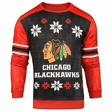 Forever Collectibles NHL Men's Chicago Blackhawks Printed Ugly Sweater