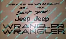1997-2002 JEEP WRANGLER Sport 4.0L Replacement fender Decals and hood decals