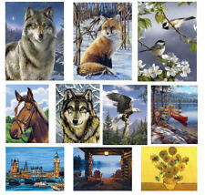 Reeves Art Painting By Numbers Set Artist Collection Acrylic Paint & Brush Kit