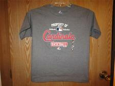 """NEW Majestic """"Property of"""" St. Louis Cardinals Youth sizes M-L Dark Gray Shirt"""