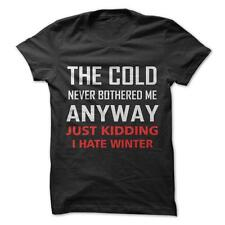 I Hate Winter - Funny T-Shirt Short Sleeve 100% Cotton Frozen Pixar Movie