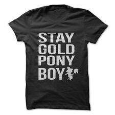 Stay Gold Pony Boy - Funny T-Shirt Short Sleeve 100% Cotton The Outsiders Movie